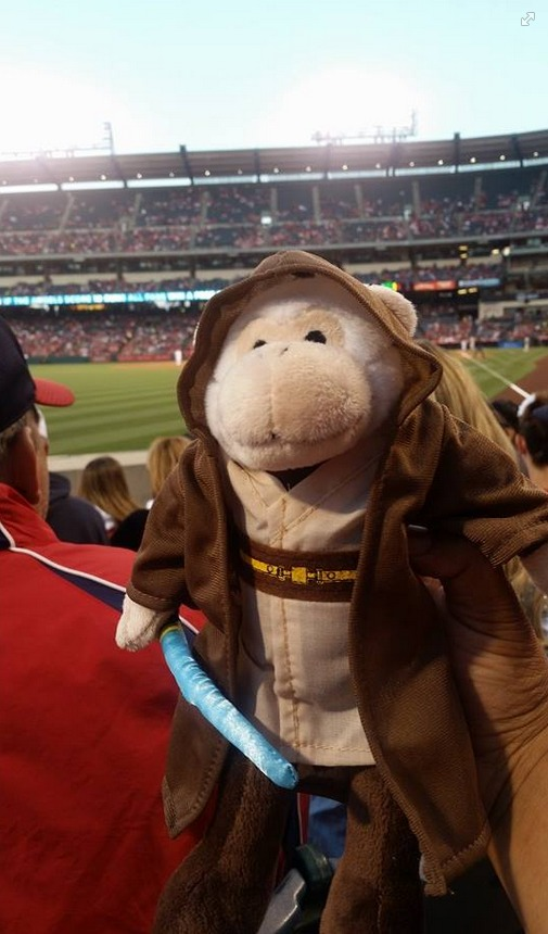 los angeles angels rally monkey star wars jedi - april 20th, 2015 (3)