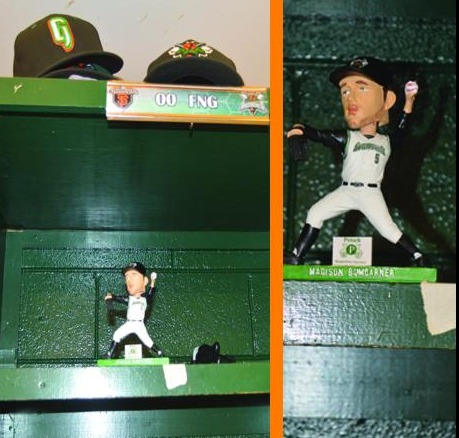 madison bumgarner bobblehead - augusta greenjackets - san francisco giants