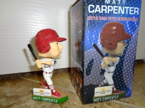 matt carpenter 2012 fan vote mini bobblehead - springfield cardinals - st louis cardinals