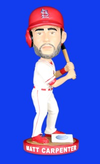 matt carpenter bobblehead - memphis redbirds - st louis cardinals