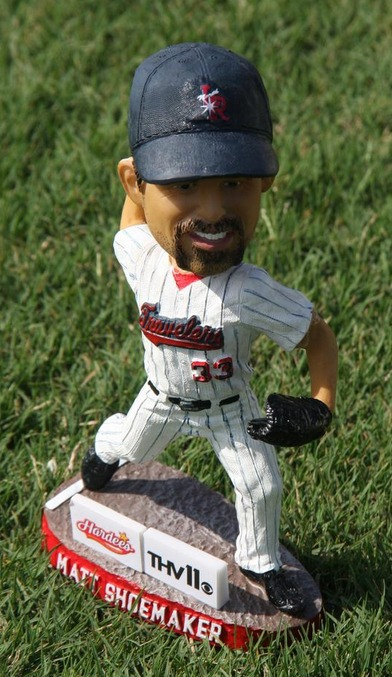 matt shoemaker bobblehead - arkansas travelers - los angeles angels
