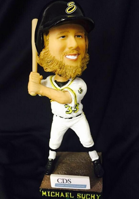 michael sucky bobblehead - willmar stingers - northwoods league