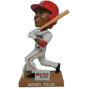 michael taylor bobblehead - harrisburg senators - washington nationals