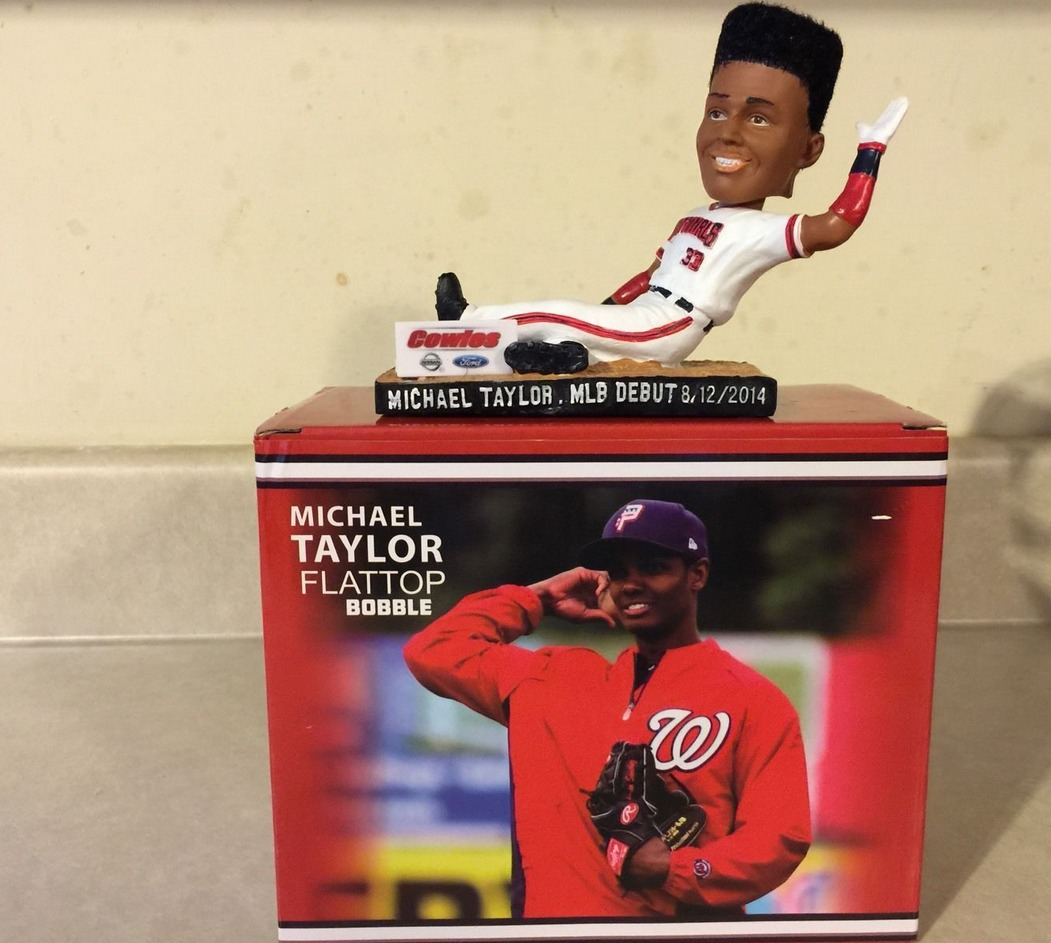 michael taylor flat top bobblehead - potomac nationals