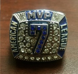 mickey mantle replica ring - tulsa drillers - los angeles dodgers