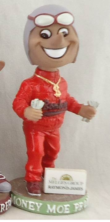 moe money mo problems bobblehead - battle creek bombers - northwoods league