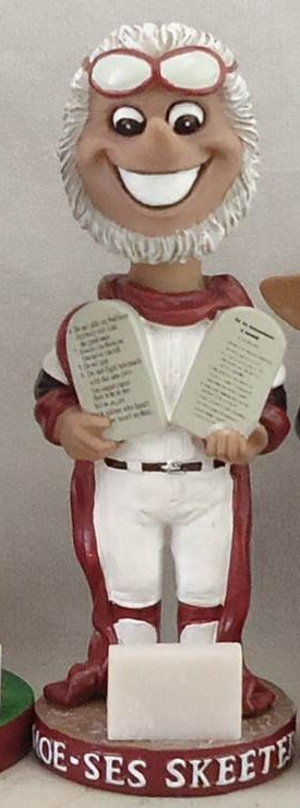 moe-ses skeeter bobblehead - battle creek bombers - northwoods league