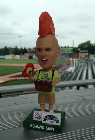 mohawk man bobble-mohawk - madison mallards - northwoods league (2)