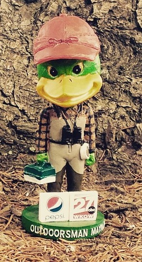 outdoorsman maynard bobblehead - madison mallards - northwoods league