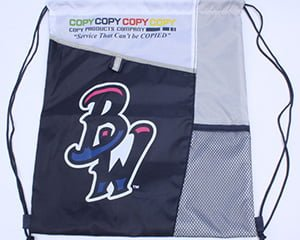 pensi blue wahoos - cincy reds - drawstring bag