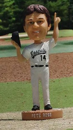 pete rose bobblehead - river city bandits - frontier league