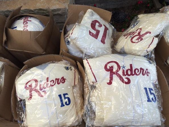 pillow jersey - frisco roughriders - texas rangers