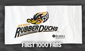 pillowcase - akron rubberducks - cleveland indians