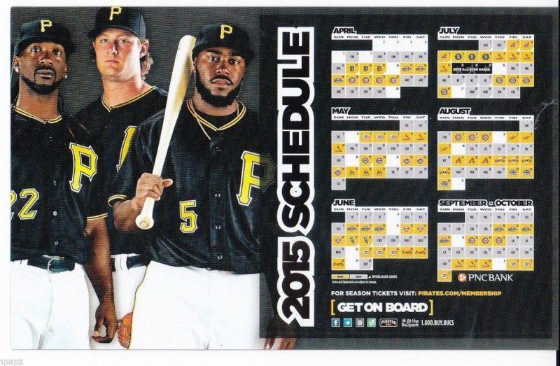 pirates magnet schedule - april 2015