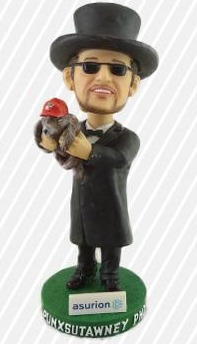 punxsutawney phil bobblehead - altoona curve - pittsburgh pirates