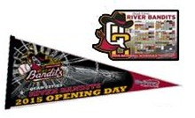 quad city riverbandits pennant and schedule - astros