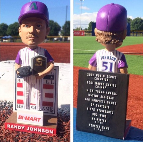 randy johnson hof bobblehead - hillsboro hops - arizona diamondbacks (2)