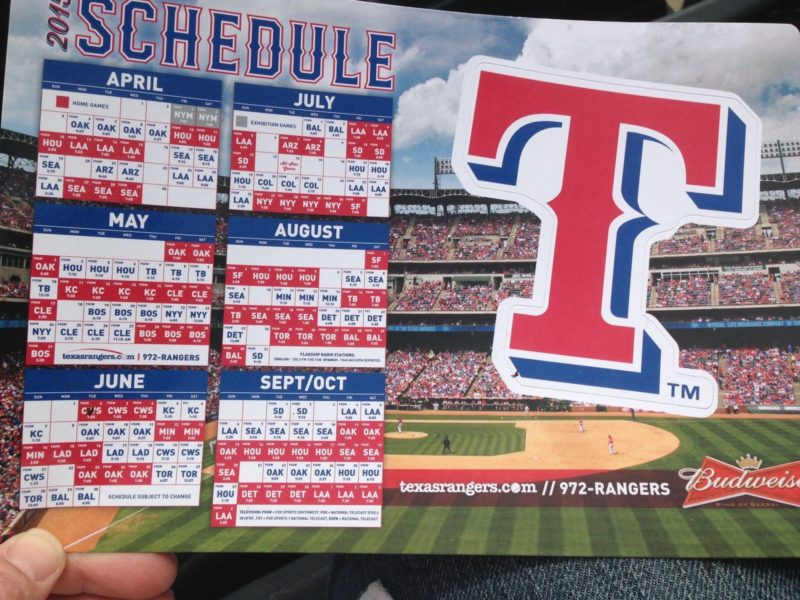 Schedule 2015 Related Keywords & Suggestions - Texas Rangers Schedule ...