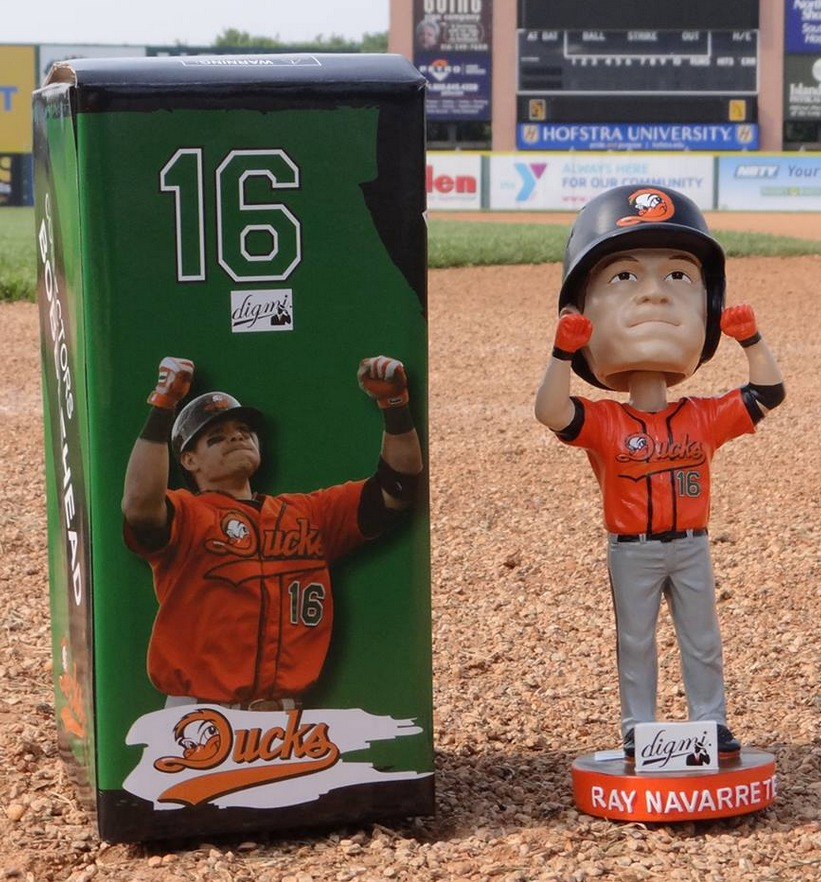ray navarrete bobblehead - long island ducks - atlantic professional baseball league