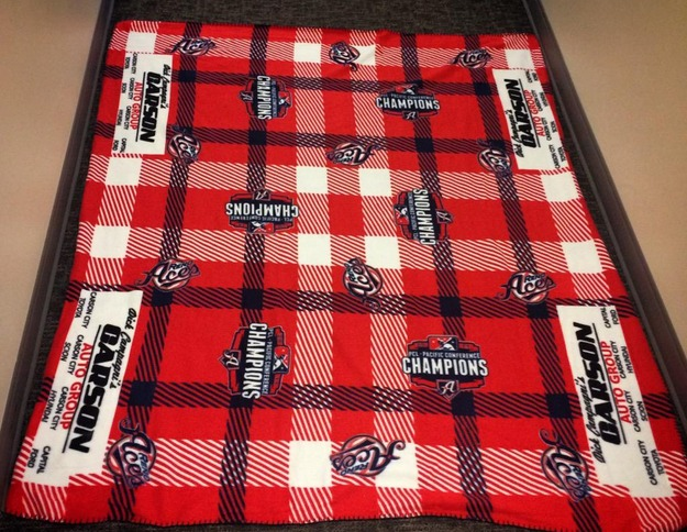 reno aces fleece blanket - diamondbacks - april 18, 2015