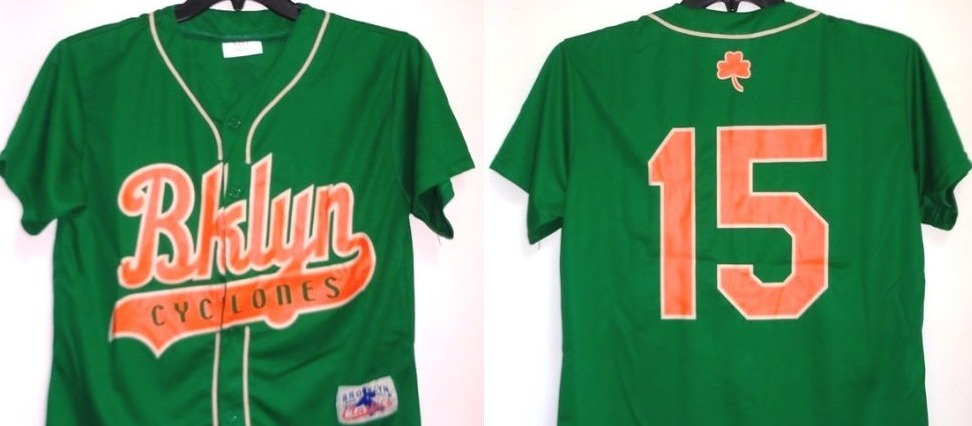 replica jersey irish shamrock - brooklyn cyclones - new york mets