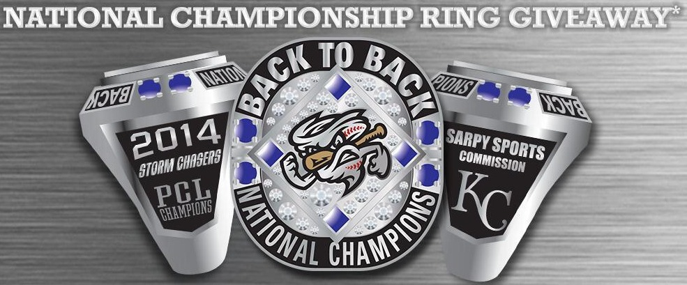 replica ring - omaha storm chasers - kansas city royals
