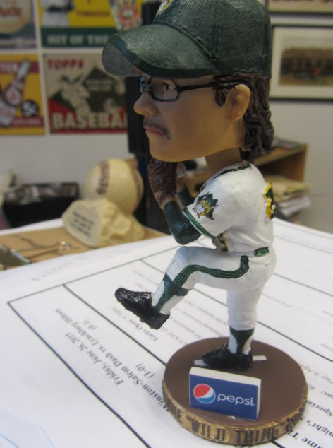 ronnie wild thing roberts bobblehead - lynchburg hillcats - cleveland indians