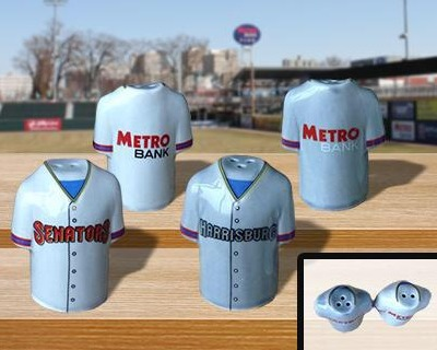 salt and pepper shakers - harrisburg senators - washington nationals
