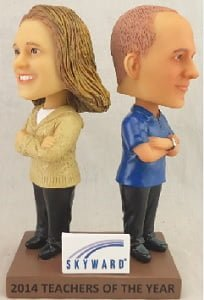 teachers bobblehead - wisconsin rapid rafters