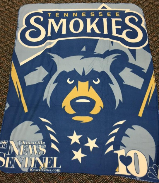 tennessee smokies fleece blanket - chicago cubs - april 18, 2015