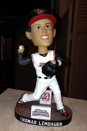thomas lindauer bobblehead - quad city river bandits - houston astros