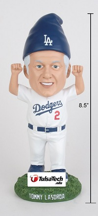 tommy lasorda garden gnome - tulsa drillers - los angeles dodgers