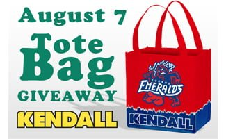 tote bag - eugene emeralds - chicago cubs