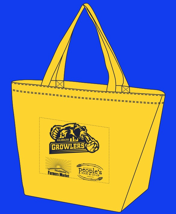 tote bag - kalamazoo growlers