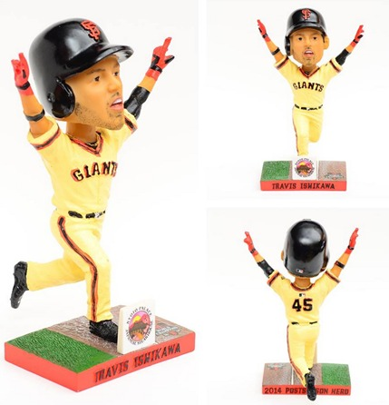 travis ishikawa bobblehead - san jose giants - san francisco giants