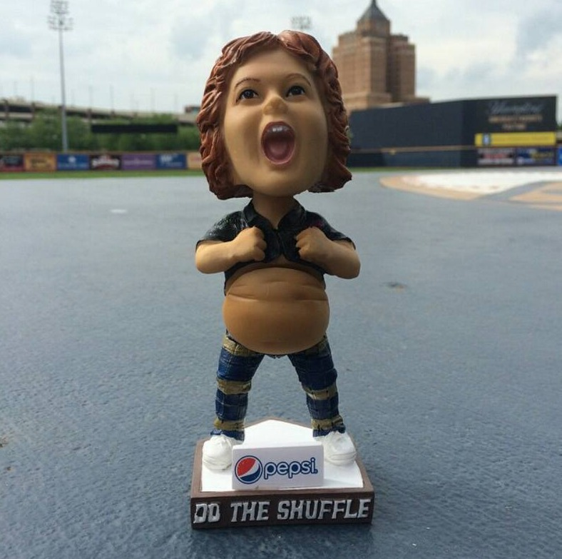 truffle shuffle goonies bobblehead - akron ducks - cleveland indians