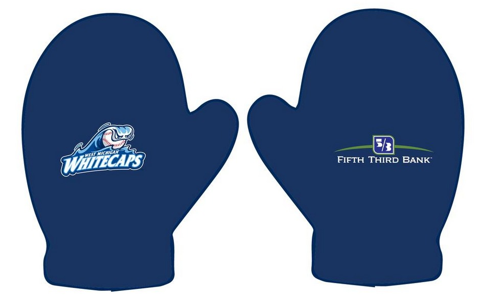west michigan whitecaps mittens - april 2015