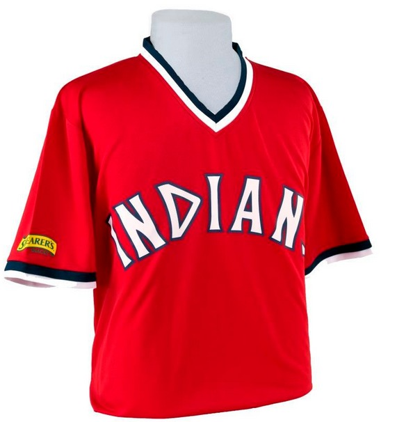 1975 replica jersey - cleveland indians