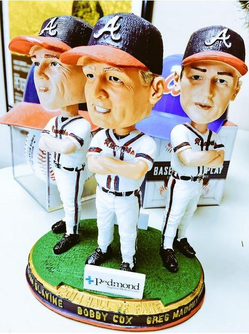 Glavine, Cox, Maddux triple bobblehead HOF - Rome Braves - Atlanta Braves