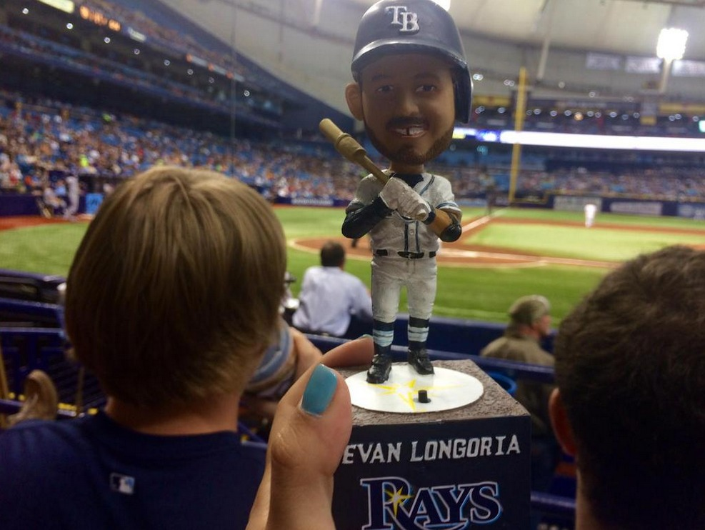 evan longoria walk-up music bobblehead - tampa bay rays (2)