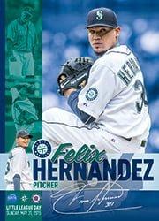 felix hernandez little league day kid poster - seattle mariners