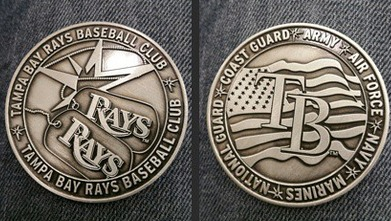 military coin - tampa bay rays