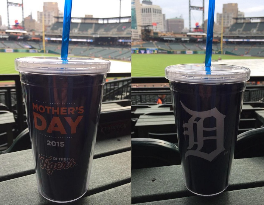 mother's day tumbler - detroit tigers