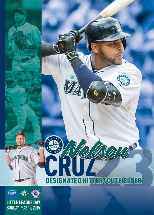 nelson cruz little league day poster - seattle mariners