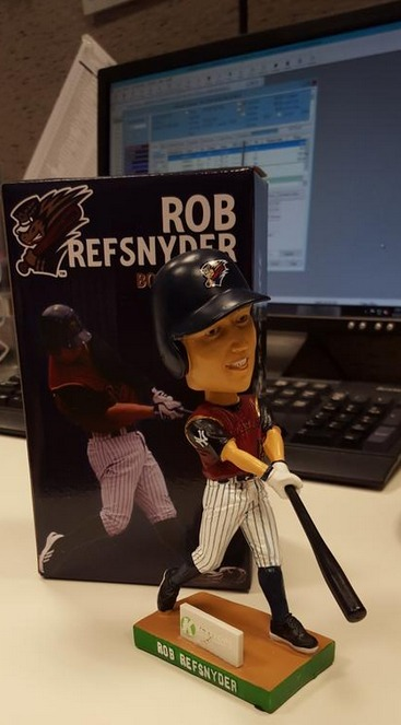 Rob Refsnyder Bobblehead - SWB RailRiders - New York Yankees