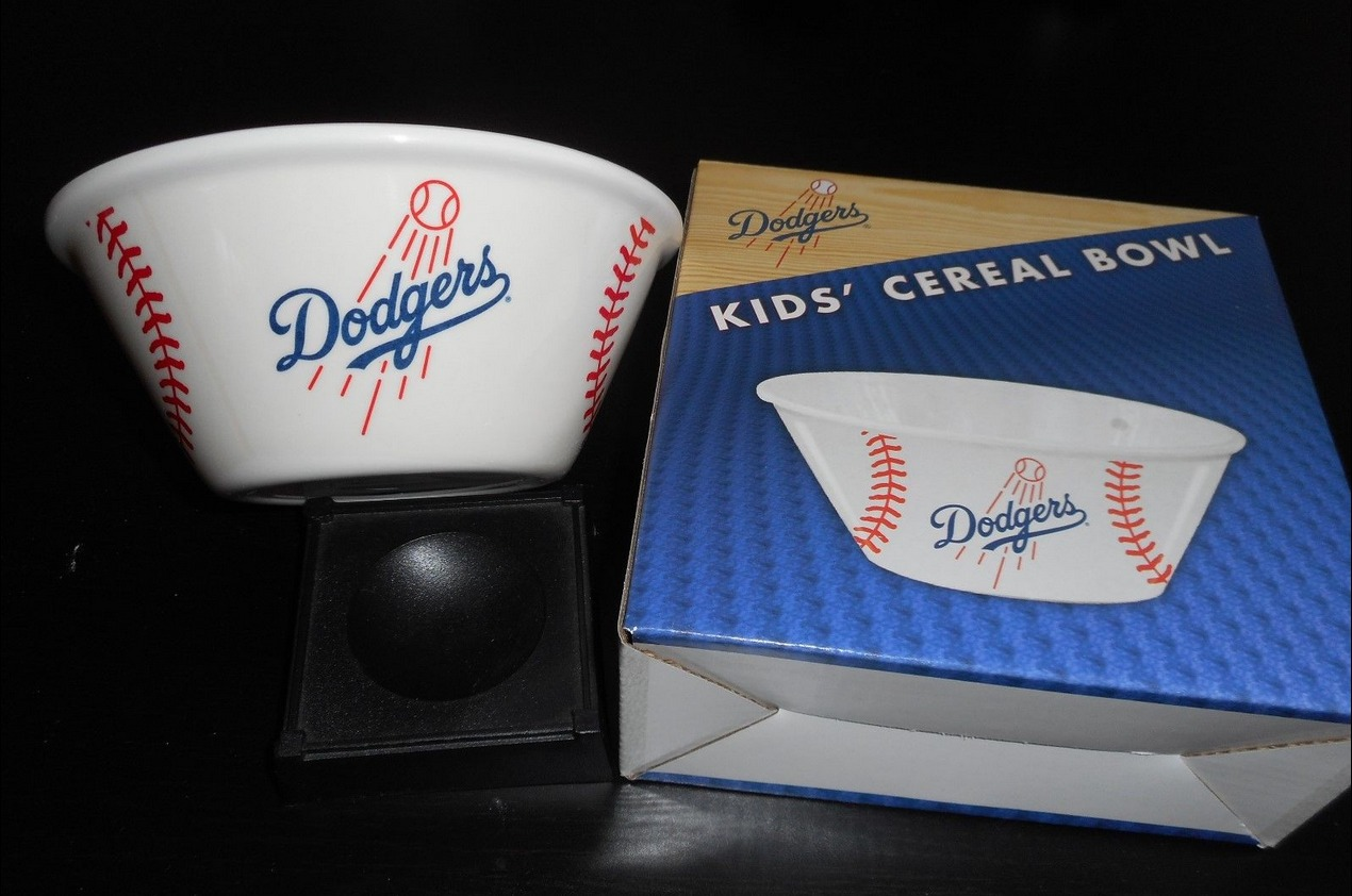 cereal bowl - los angeles dodgers (2)