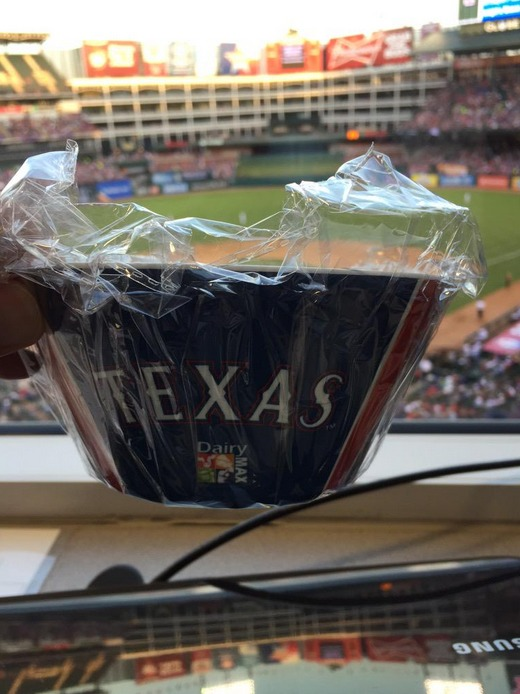 cereal bowl - texas rangers
