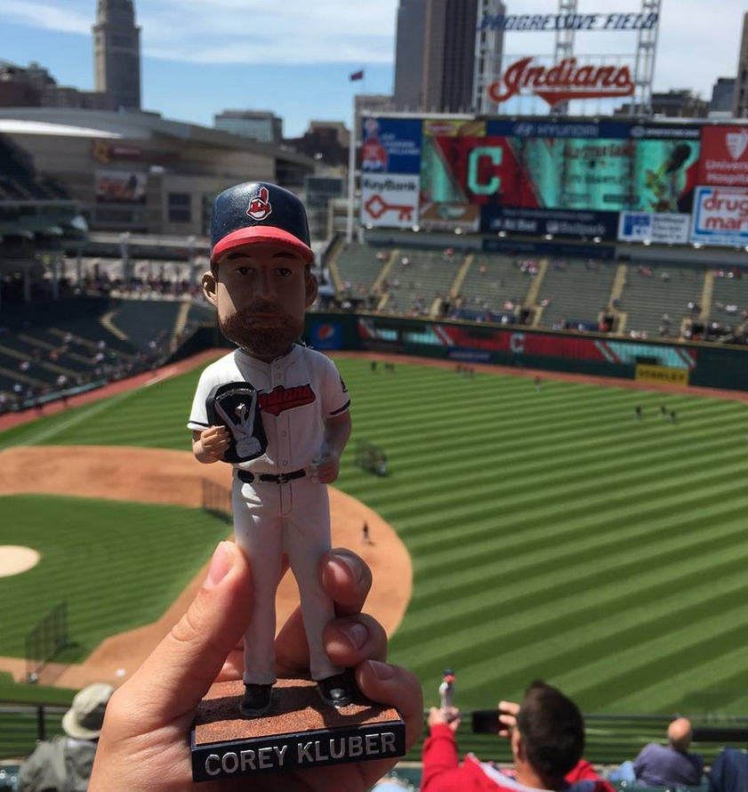 coey kluber bobblehead - cleveland indians