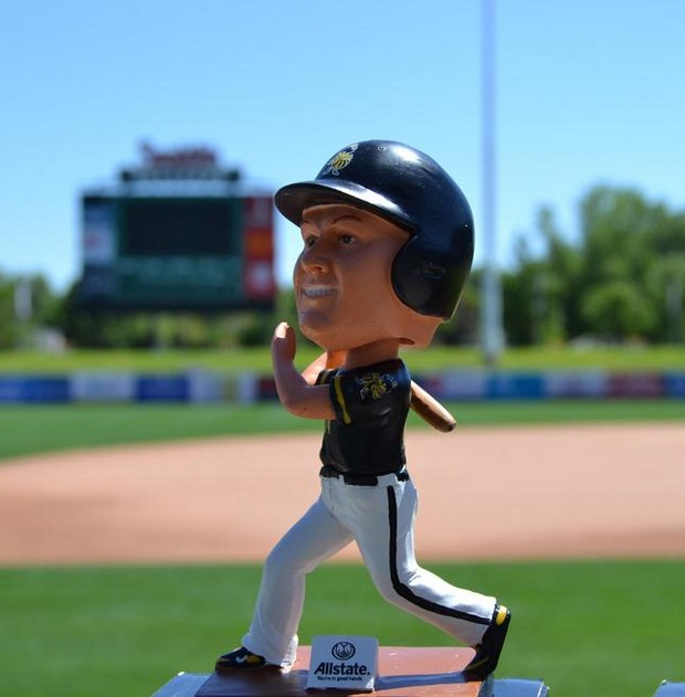 kole calhoun bobblehead - salt late bees - los angeles angels