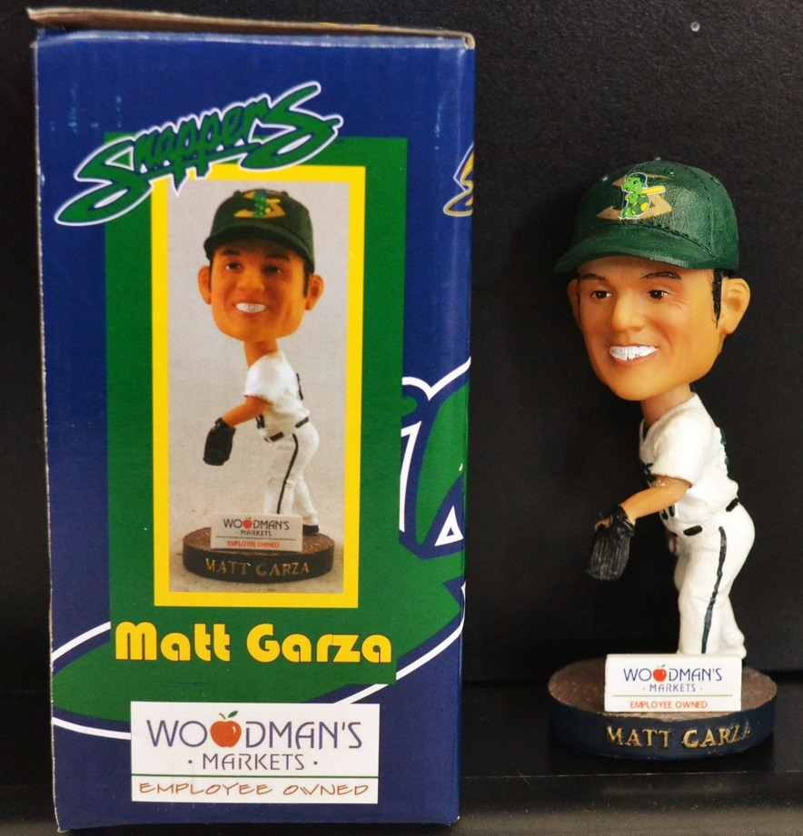 matt garza bobblehead - benoit snappers- oakland athletics
